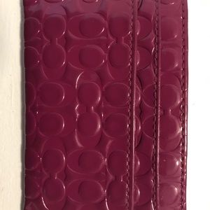 REDUCED Authentic Coach Card Holder